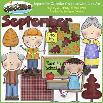 September Calendar Graphics
