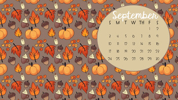 September Calendar Desktop Wallpaper