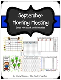 September Calendar Math and Morning Meeting for Smartboard or Mimio