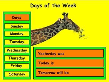 September Calendar - Mimio - Kindergarten / PreSchool