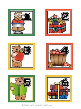 Calendar Numbers: September, Set 1