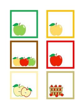 September Calendar Numbers (6 sets) Apples