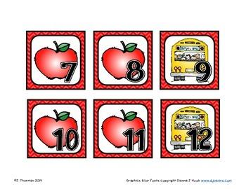 September Calendar Numbers AAB Pattern