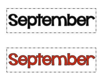 September Patterned Calendar Cards- Melonheadz Style