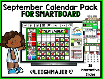 2017 September Calendar Pack for SMARTboard - Apple Theme