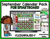 2018 September Calendar Pack for SMARTboard - Apple Theme