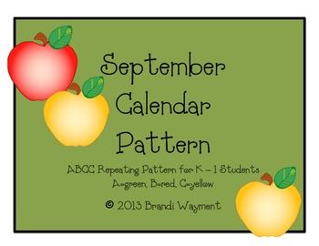 September Calendar Pattern