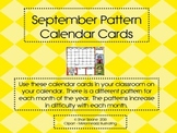 September Calendar Pattern Cards - AB Pattern
