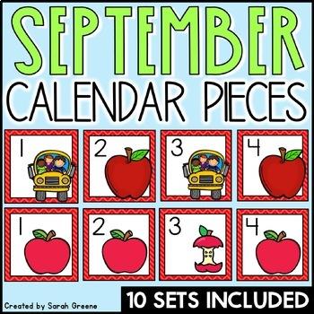 September Calendar Pieces!