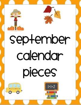 September Calendar Pieces