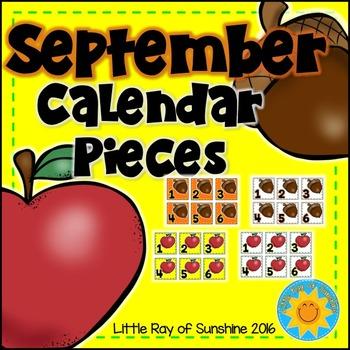 Calendar Numbers September