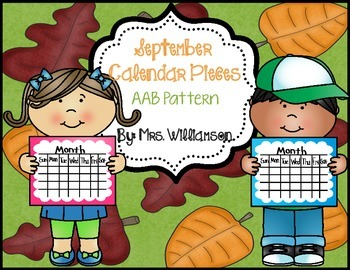 September Calendar Pieces- AAB Pattern