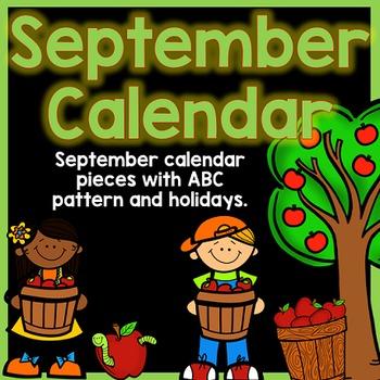September Calendar Pieces - Black Set