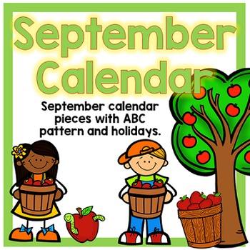 September Calendar Pieces - White Set