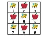 September Calendar Pieces using ab pattern