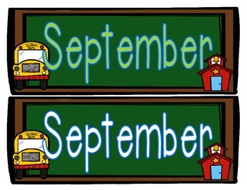 September Calendar Set Freebie