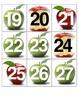 September Calendar Squares and Math Center Pieces