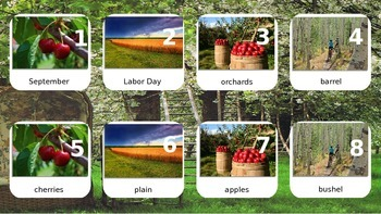 September Calendar & Daily Vocabulary