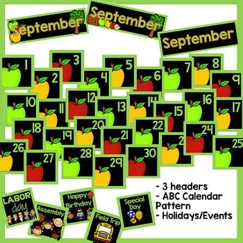 September Calendar and Morning Math - Black Set
