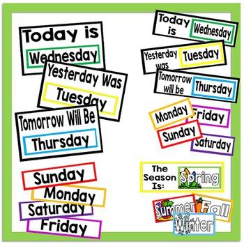 September Calendar and Morning Math *White Set*