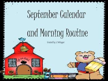 September Calendar and Morning Meeting