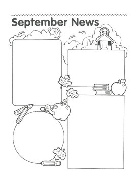 September Calendar and Themed Writing Pages - FREE