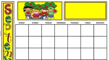 September Calendar for Smart Board