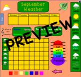 September Calendar for Smartboard