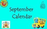 September Calendar for the Promethean Board