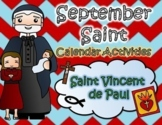 September Catholic Saint Calendar Activities - Saint Vince