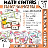 September Centers: Second Grade Math ONLY