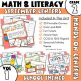 September Centers: Second Grade Math and ELA