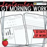 September Challenge Daily Morning Work 2nd Grade