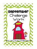 September Challenge Pack