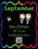 September- Character Traits - Non Fiction QR Code Comprehension