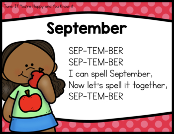 SEPTEMBER CALENDAR AND CIRCLE TIME RESOURCES