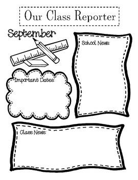 September Class Reporter/Newpaper