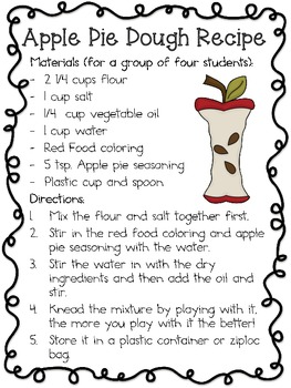 September Clay/Dough Recipes and Science Labs ~ Apple Scented