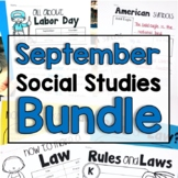 "September  ""Click-and-Print"" Social Studies Bundle"