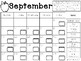 September Clip Chart Behavior Calendar