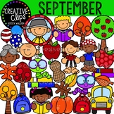 September Clipart {Creative Clips Clipart}