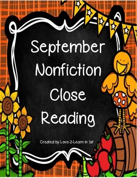 September Close Reading