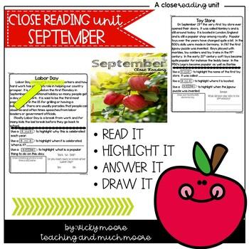 September Close Reading