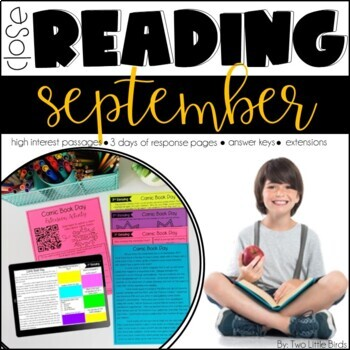 Close Reading Passages & Activities for September