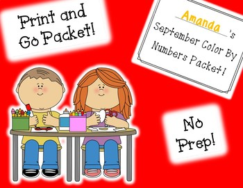 September Color By Numbers Packet! PRINT AND GO!