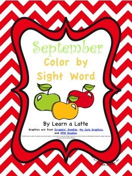 September Color by Sight Word