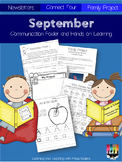 September Communication Folder and Homework Packet