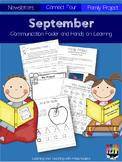 September Communication Folder and Homework Packet