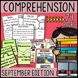 Reading Comprehension Passages & Questions: SEPTEMBER EDITION