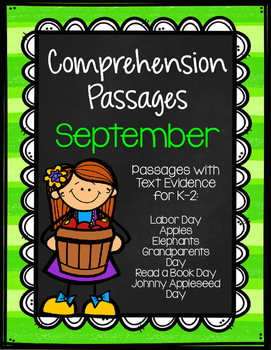 September Comprehension Passages